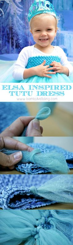 How to make an Elsa inspired tutu dress.  So simple, but SOO cute for a little girl!
