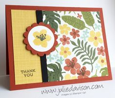Stampin' Up! Botanical Blooms Cards - Customize the Designer Paper with Stamps