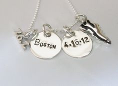 Personalized - Runner - Half Marathon - Marathon - Running - 26.2 - 13.1 - Running Jewelry - Running Necklace - Hand Stamped Necklace