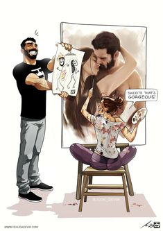 DeVIR's illustrations are based on real life moments that are hilarious and relatable... #AwesomeDrawings