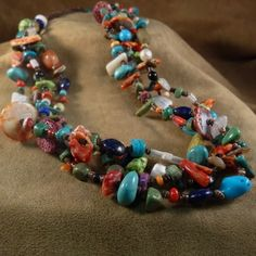 4-strand treasure necklace by Rethema Tsosie.  See more on our website:  www.cimarronriver.company