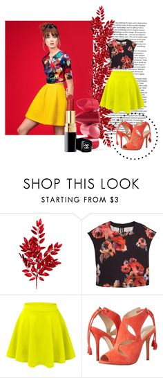 """real"" by dina-97 ❤ liked on Polyvore featuring H&M, MANGO, LE3NO, Oscar de la Renta and Rossetto"