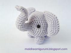 Amigurumi Schemi Italiano Gratis : Animali all'uncinetto: schema elefantino amigurumi pinterest