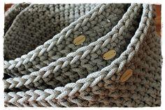 Komplet koszy ze sznurka bawełnianego