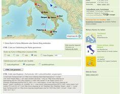 Bild: Stepmap Landkarte in Blog exportieren