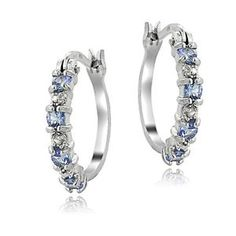925 Sterling Silver Tanzanite & Diamond Accent Hoop Earrings  $19.99  $75.00  (188 Available) End Date: Jul 222016 07:59 AM GMT-07:00