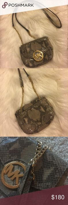 Michael Kors Python crossbody Perfect condition, used a few times, has an extra pocket on the back, snake skin KORS Michael Kors Bags Crossbody Bags