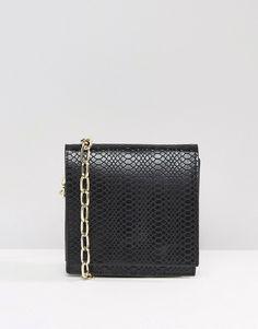 ASOS | ASOS Snake Cross Body Bag With Chain