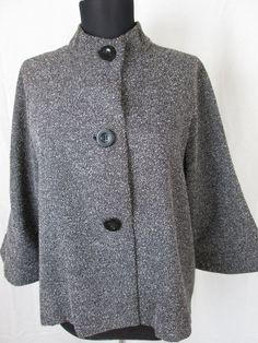 Gray Tweed Jacket Women's Coat New Size 10 #Unbranded #BasicJacket