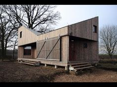 """""""House Zilvar"""" Is A Small Wooden House With An Unusual Shape - YouTube"""
