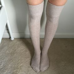Aerie OTK sock Cuffed over the knee socks by Aerie. (Brand new without tags). Tan/nude color. Accepting offers & bundles!! aerie Accessories Hosiery & Socks