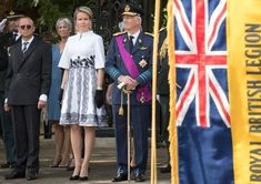 King Philippe and Queen Mathilde attended the Belgian Parade in London