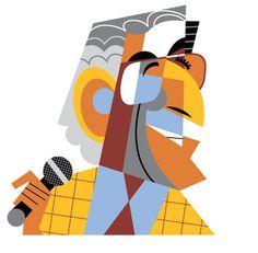 Leonard Cohen by Pablo Lobato..but it looks like Tony Bennett to me.  skg