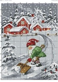 Thrilling Designing Your Own Cross Stitch Embroidery Patterns Ideas. Exhilarating Designing Your Own Cross Stitch Embroidery Patterns Ideas. Xmas Cross Stitch, Cross Stitch Charts, Cross Stitch Designs, Cross Stitching, Cross Stitch Embroidery, Embroidery Patterns, Cross Stitch Patterns, Cross Stitch Landscape, Theme Noel
