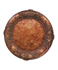 Look what I found on #zulily! Copper Embossed Charger Plate by Jay Import #zulilyfinds