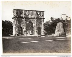 Italie, Roma, Arco Di Constantino Vintage Albumen Print.   Tirage Albuminé   20x25   Circa 1880 - Foto