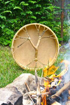 18' Shaman Drum, Goat Hide, Handcrafted #GeorgeTupak