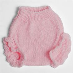 Frilly pink diaper cover