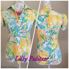 Lilly Pulitzer button down shirt No need to describe this beautiful shirt. Love this brand. Lilly Pulitzer Tops Button Down Shirts