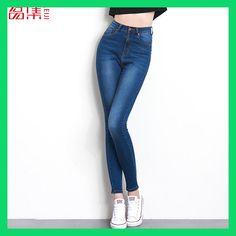 Jeans for women Jeans With High Waist Jeans Woman High Elastic plus size  Women Jeans femme · Pantalones Cintura AltaPantalones ... 9a98495b50a4