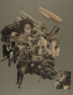 Photomontage by Marianne Brandt Bauhaus. While her designs for mass production - lamps, teapots etc - were highly successful, her collages were seemingly not intended for public display, only coming to light in the Bauhaus, Wassily Kandinsky, Montage Art, Metal Workshop, Collage Vintage, Photocollage, Found Art, National Gallery Of Art, Mixed Media Collage