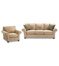 Bauhaus Mineral Tan Microfiber Sofa U0026 Chair Set | Carsonu0027s