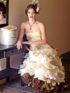 Ivory Zoltova wedding dress by Wai Ching  $1,989.00 I love it.  I want it.  I wish I looked good in ruffles. :(