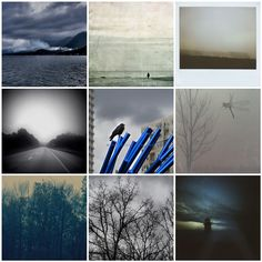 grey skies mosaic with photos from artists, left to right: kimrose, lepiaf.geo. violetjulia, Meganzii, Julie Magers Soulen, jujubalee, A Sense of Place Photography, MySaturnalia, pamelaklaffke