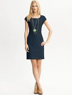 "MINE. Great for teaching and ""I don't feel like wearing clothes today but I have to unless I want to get arrested."" Cap sleeve ponte knit dress 