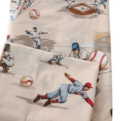 The Traditions by Pamela Kline World Series 280 Thread Count Egyptian Cotton Sheet Set scores a home run for its eye-catching baseball print. Available in twin full and queen sizes this super-soft and cozy 280-thread count sheet set is made from comfortable 100% Egyptian cotton fabric. Machine washable for easy maintenance it features a fun baseball-themed design against a soothing beige background. Perfect for young sports fans this set includes