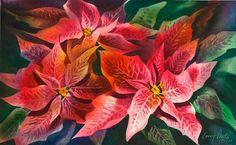 Poinsettias | Larry Fentz Studio – Orginal Watercolors