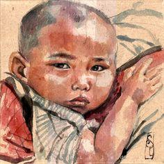 Dans le porte bébé Chine par Stephanie Ledoux