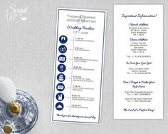 Wedding Timeline  Printable Template With Icons Showing The Order