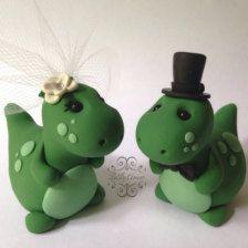 Dinosaur Wedding Cake Toppers :)