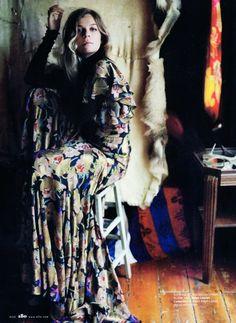 A dress is a canvas, immortalising a floral motif.