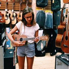 visit your local music store and try your hand at an instrument | Skirt the Ceiling | skirttheceiling.com