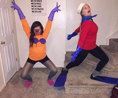 Mermaid man and barnacle boy costume idea & DIY Mermaid Man and Barnacle Boy Halloween costume 2015 for friends ...