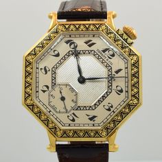 A 1921 Vintage Tiffany & Co. Pocket Watch to Wristwatch Conversion. This Drivers Watch-style timepiece features a 14K Yellow Gold case, a unique silver dial with black, Breguet Arabic numerals and a 17-jewel, caliber 18.89 M Longines movement. Wow, a truly one of a kind example! (Store Inventory # 9789, listed at $7850). #tiffanyandco #tiffany #pwc #pocketwatch #conversion #mens #swiss #watch #classic #watches #vintage #timepieces #wristwatches #stawc