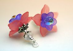 Vintage Style Pink and Purple Lucite Flower and by bountyofbeads, $7.50