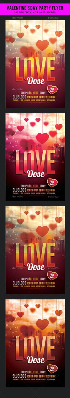 Valentine's Day Party Flyer Template PSD #design Download: http://graphicriver.net/item/valentines-day-party-flyer-template/14369218?ref=ksioks