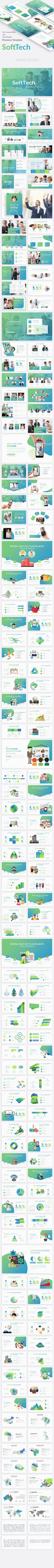 SoftTech Business Google Slide Template #project presentation #marketing • Download ➝ https://graphicriver.net/item/softtech-business-google-slide-template/21274300?ref=pxcr
