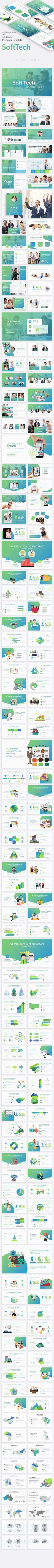 #SoftTech Business #Powerpoint Template - Business PowerPoint Templates
