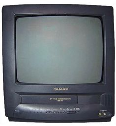 Tiny TVs that came with a built-in VCR: 40 Very, Very Random Things That Millennials Haven't Thought About In 10 Years, And Maybe Even Longer Tvs, Vhs Player, Impossible Game, Big Screen Tv, Tv Sets, Box Tv, Songs To Sing, Classic Image, The Villain