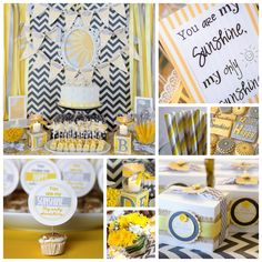 """You Are My Sunshine"" Baby Shower Inspiration Board {Photography: Megan Kelly Photography}"