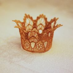 Lace Newborn Crown in GOLD Photography Prop by Hazelmoonfly
