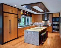 New kitchen pop design and false ceiling ideas 2019 Kitchen Ceiling Design, Pop False Ceiling Design, Kitchen Ceiling Lights, Home Decor Kitchen, Ceiling Lighting, Modern Kitchen Lighting, Kitchen Lighting Fixtures, Modern Kitchen Design, Kitchen Contemporary