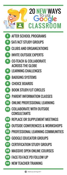 20 New Ways to Use Google Classroom: Google has opened up Google Classroom to users outside of G Suite for Education. Users with a personal Google account can now both join and create classes. This opens so many doors for teachers, students, and parents to connect, collaborate and learn.