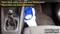 Müslibox Mülleimer fürs Auto - mehr Tipps und Tricks auf smarticular.net