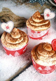 "Pink Sugar: ""Tiramisu Cupcakes"" - Genießermomente zu Weihnachten #cupcake #tiramisu"
