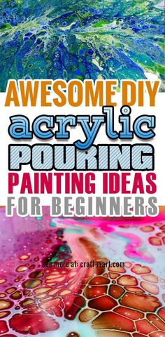 Learn acrylic pour painting techniques for your prettiest DIY wall art ever abstrakt painting Jackson Pollock, Pour Painting Techniques, Diy Hanging Shelves, Acrylic Pouring Art, Acrylic Art, Beginner Painting, How To Start Painting, Fluid Acrylics, Diy Home Decor Projects